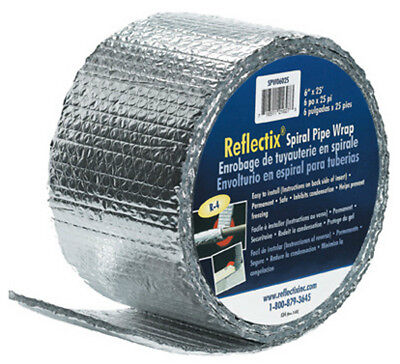 Reflectix Spw0602508 Spiral Pipe Wrap Insulation R-2.0 6 X 25