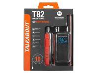 Motorola TLKR T82 PMR Walkie Talkies 10km range x2