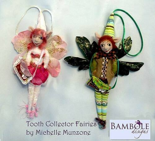 """Cloth Art Doll Pattern """"Tooth Collector Fairies"""" By Michelle Munzone"""