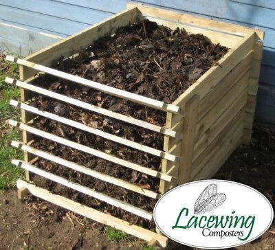 Compost da giardino Contenitore in Legno Compost Rifiuti Naturali 449 litri