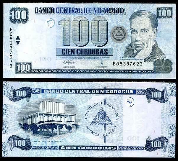 NICARAGUA 100 CORDOBAS 2006 P 199 UNC
