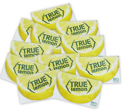 True Lemon 100% Natural Crystallized Fruit Flavor 100 ct packet Tea Baking