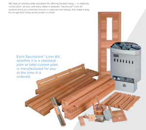 Do It Yourself Canadian Sauna Kits. HEATER + SHIPPING INCLUDED.