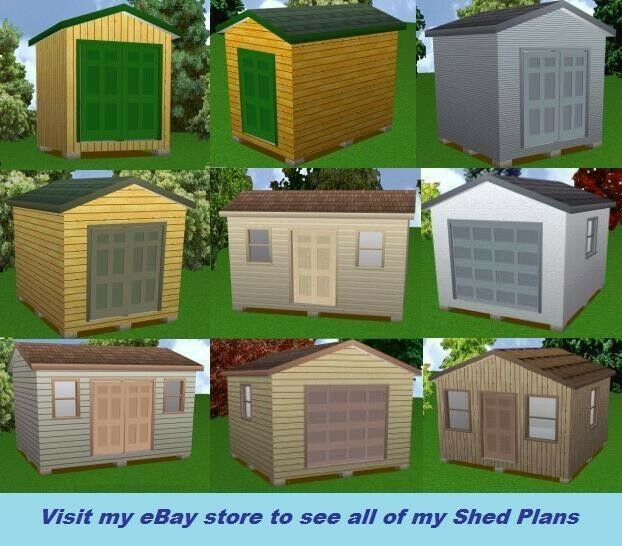 12x16 storage shed plans package blueprints material for Material list for shed