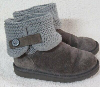 UGG Girl's Darrah Gray Boots S/N 101385NK Sz 3