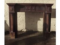 Fire Surround with lamp embellishment