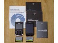 2 Blackberry mobile phones - spares or repair (9520 works)