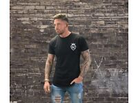 LC Longline Fitted T-Shirt – Black
