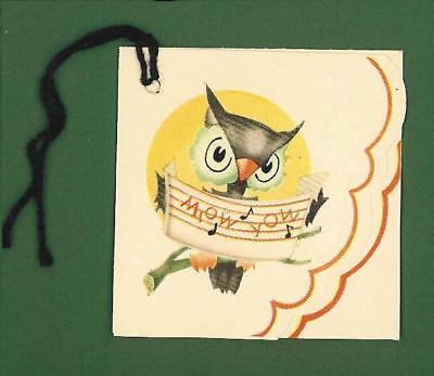 HALLOWEEN PARTY BRIDGE GAME  PLAYING TALLY CARD  MARI CARD OWL DIE CUT  - Halloween Die Cut