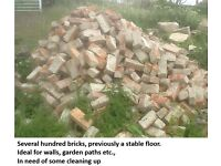 Bricks, second hand; ideal for walls or paths.