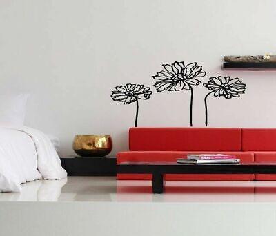 Wall Art Vinyl Sticker Decal Mural Design Beautiful Daisy Flowers Garden #592 Garden Design Decal