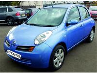 NISSAN MICRA 2005, 43,000 MILES 1.3 PETROL MANUAL 5 DOOR HATCHBACK BLUE