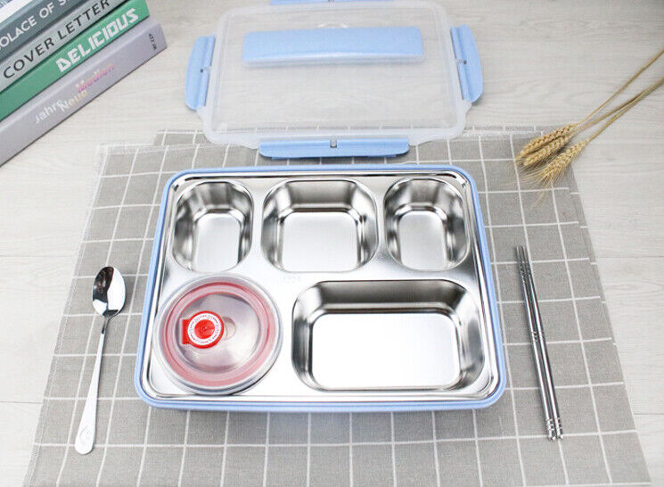 Stainless Steel Bento Lunch Box Food Storage Containers Kids