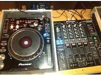 Pair of cdj 1000 with dim 800 mixer