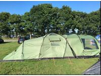 Vango Orchy 500 tunnel tent with extension - sleeps 5-8 people