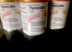 Neocate formula 0-12months - x3 tins unopened