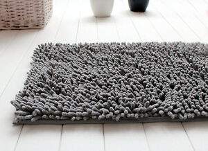 tapis de salle de bain chenille gris 100 coton 1500 g m2 m ches franges. Black Bedroom Furniture Sets. Home Design Ideas