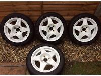 "Refurbished Compomotive mo5 alloy wheels 14"""