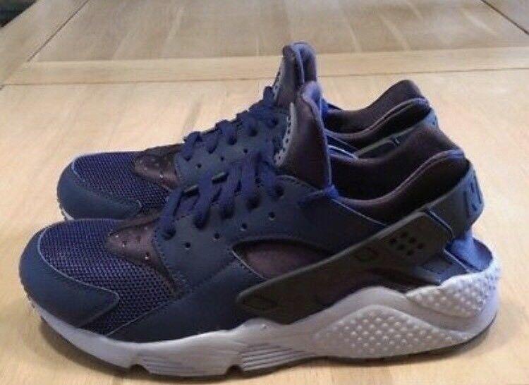 Brand New Nike Huarache Black Blue Grey Size 9  8  ff9b62f113d5