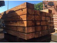 🌻Tanalised Timber Sleepers // Brown