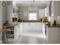 Slab white gloss kitchens
