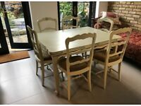 French Antique (circa 1900) Furniture Table and 6 Chairs