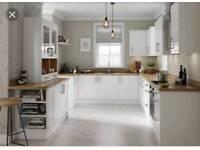 Slab white gloss kitchens
