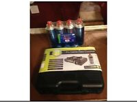 Portable gas cooker and butane canisters
