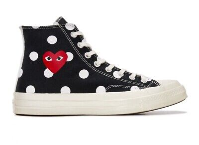 Play Converse Polka Dot Chuck Taylor All Star 70 High (Black) Comme des