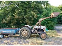 Vintage grey Ferguson 1953 TEF20, Front loader, 2 ton maston and tipping trailer