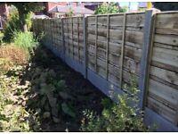 🌩Heavy Duty Timber Wayneylap Fence Panels