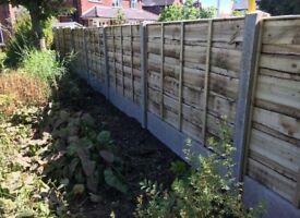 🌩Heavy Duty Timber Wayneylap Fence Panels • Pressure Treated