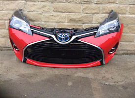 Genuine Toyota Yaris Front Bumper & Pair Of DRL Headlights 2015-2016-