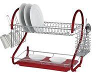 Red dish rack