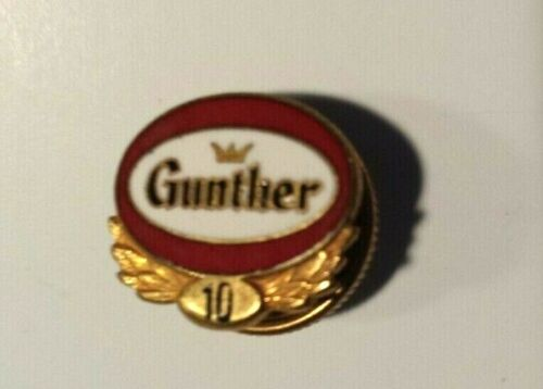 Gunther Beer 10 Year Service Pin