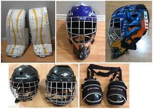 Équipement de gardien / goalie stock