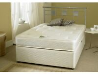 DOUBLE DIVAN BED BASE AND 10 INCH MATTRESS BRAND NEW STILL IN POLY PLASTIC