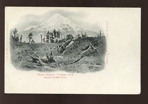 NEW-ZEALAND-c1905-MOUNT-EGMONT-UNDIVIDED-BACK-CARD-MINT-CONDITION
