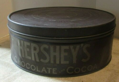 """Vintage Advertising Hershey Chocolate and Cocoa Tin 12 1/2"""" Diameter"""
