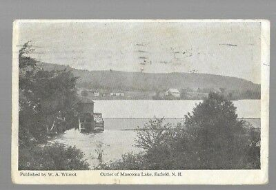 pk39641:Postcard-Outlet to Mascoma Lake,Enfield,New Hampshire