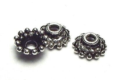 50 pcs Bali Sterling Silver 4.5x2mm Bead Caps <766> Bali Sterling Silver Bead Caps