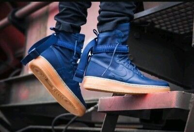 ab34904c01ea20 SIZE 10.5 MEN Nike SF AF1 AIR FORCE Midnight Navy Blue 864024 400 Special  Forces