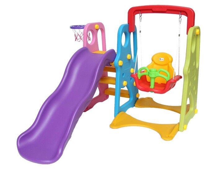 Rutsche Kinderrutsche Schaukel Garten Baby Draussen