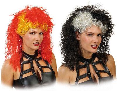 wilde Damen Perücke Rockerbraut zum Kostüm an Karneval - Rocker Kostüm