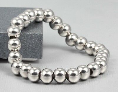 Edelstahl Kugel Armband Armbänder Armreif - Männer Frauen Unisex - Länge 21 cm