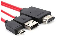 Mhl micro usb to hdmi cable (brand new)