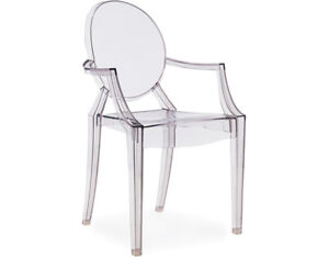 Brand New Ghost Chair with Arm, Set of 4