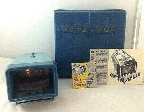 Vintage Opta-Vue Slide Viewer with Case and instructions