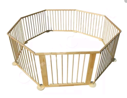 Brand New Large 8 Panel Wooden Baby & Toddler Playpen