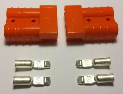 Anderson Sb50 Connector 50 Amps Orange Housing 6 8 Or 1012 Awg Contacts